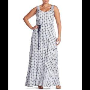 NWT Lucky brand knit maxi dress rope belt waist